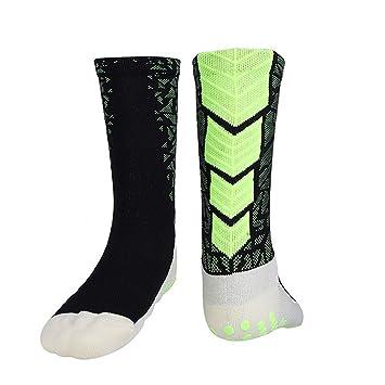 Dilwe Calcetines Deportivos Transpirables al Aire Libre de Hombres Calcetines Antideslizantes Térmicos para Acampar Senderismo Jogging