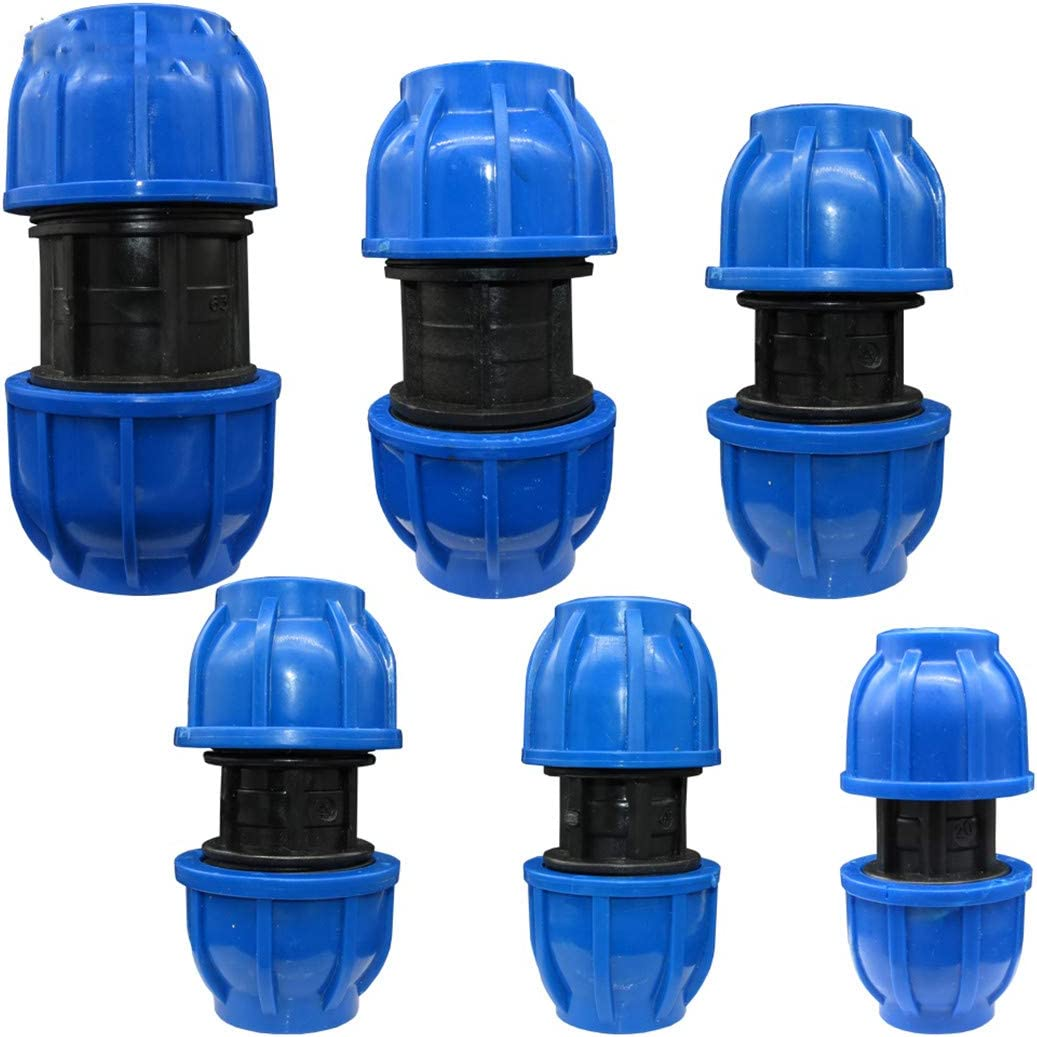 20 25 32 40 50 60MM HDPE Compression Coupler Garden Water Connector PP Thread Irrigation Pipe Quick Connecter Fittings Bx5xAB799C Dx2xab799c