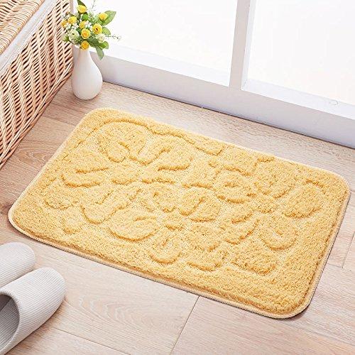 Door mats household mats anti-slip door mats bedroom/bathroom mat -4565cm Yellow by ZYZX