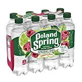 Poland Spring Sparkling Water, Raspberry Lime, 16.9 oz. Bottles (Pack of 8)