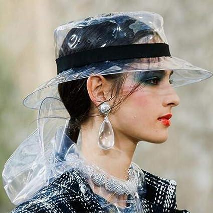 Amazon.com: Flurries 👒 PVC Transparent Jelly Bucket Hat - Unisex ...