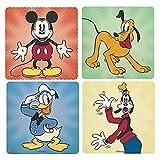 Set of 4 Disney Coasters, Mickey, Donald, Pluto & Goofy