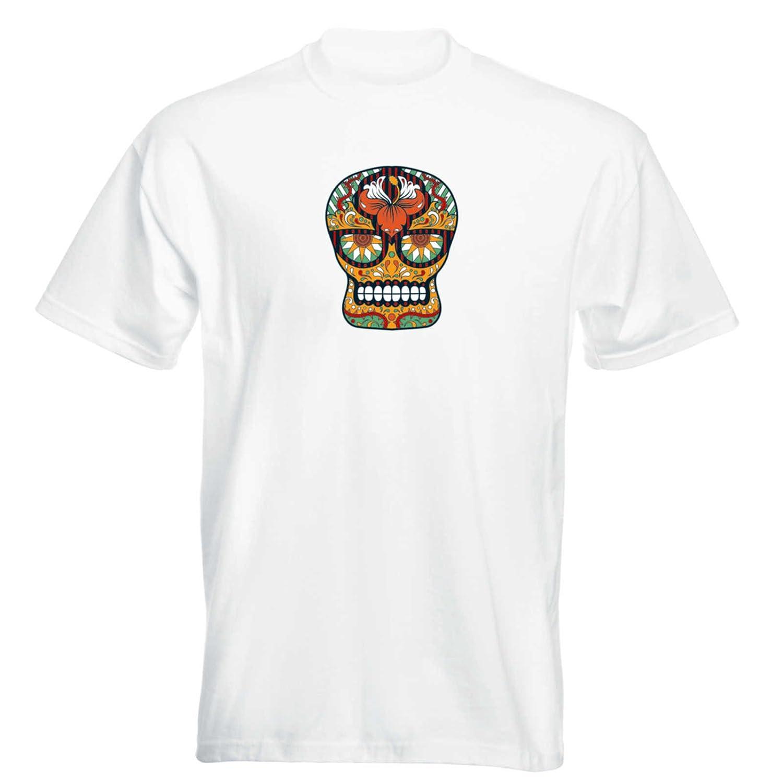 T-Shirt - Matey Skull 11 - Totenkopf - Sugar Skull - Herren - unisex:  Amazon.de: Bekleidung