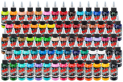 Tattos For Mom (MOM'S Tattoo Ink - 70 Bottle Super Color Kit (1/2)