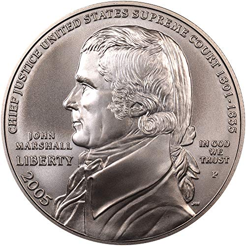 2005 S Chief Justice John Marshall 250th Anniversary Commemorative Silver Dollar Brilliant Uncirculated BU US Mint