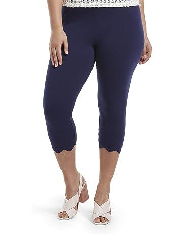 0d5395e8822 HUE Women's Fashion Cotton Capri Leggings, Assorted