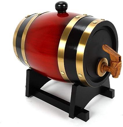 Kaibrite Barril de madera de roble de 1,5 l, barril con grifo ...