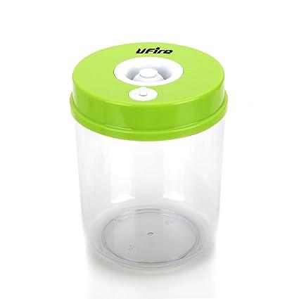 UFire Vacuum Sealed Food Storage Container, Green Vacuum Jar(1L)