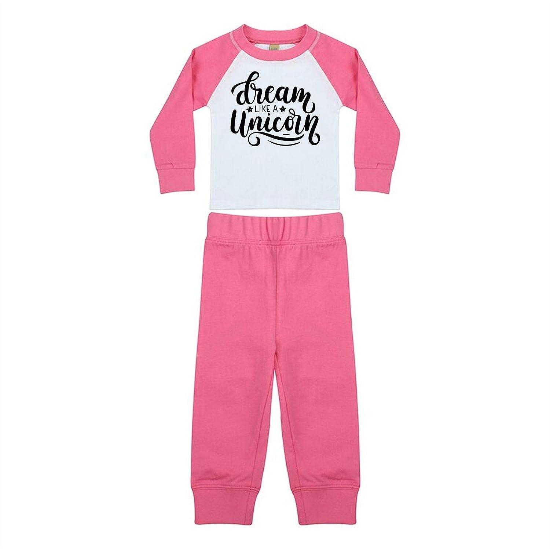 Dream Like A Unicorn Girls Pink Snuggle Fit Pyjamas London Co