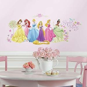 RoomMates Disney Princess Glow Princess Peel and Stick Wall Decals