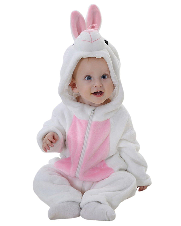 Unisex Baby Romper Animal Jumpsuit Cosplay Costume Autumn Spring Outfits Kids Hoodie Bodysuits Flannel Sleepwear Outwear KIDSFORMyonnciiuk2676