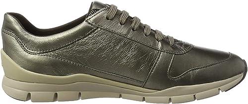 Geox Damen D Sukie A Sneaker, Weiß (IVORYC1008)