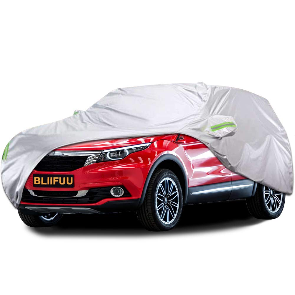 "Bliifuu Car Cover,SUV Protection Cover Indoor Outdoor for All Seasons Waterproof/Windproof/Dustproof/Scratch Resistant Fits SUV up to 190"" L"