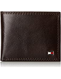 Men's Leather Wallet - Thin Sleek Casual Bifold with 6 Credit Card Pockets and Removable ID Window, Chocolate