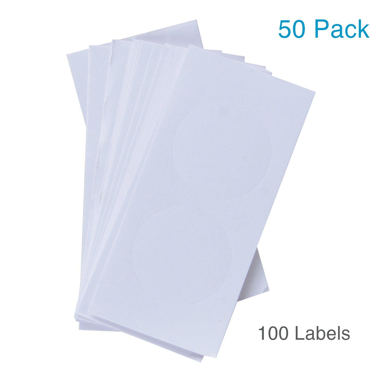 Blanca Uniclife 50 Paquete Pl/ástico Etiquetas Clave con la Etiqueta Anillo Partido