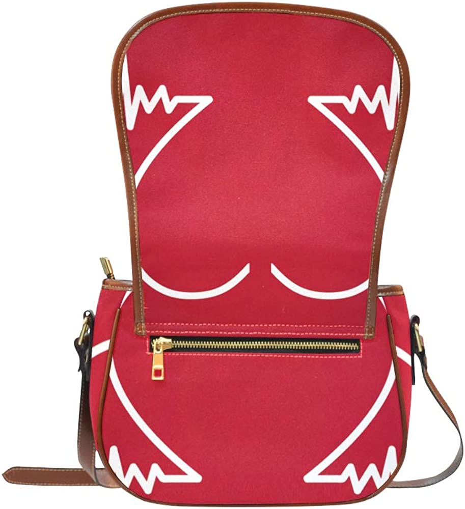 Heartbeat Line Electrocardiogram Crossbody Shoulder Bag Flap With Magnetic Snap Printed Teen Crossbody Bags Shoulders Bag