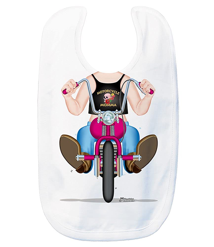 Just Add A Kid Baby Girl's Biker Girl 242 Baby Bib 0-6 Months White