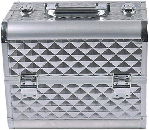 ALUK- Maletín De Maquillaje Organizador Cosméticos Profesional Estuche De Maquillaje Caja De Belleza Portátil con Cerradura Varios Compartimientos Aluminio: Amazon.es: Hogar