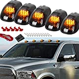 YUK For Dodge Ram Truck SUV 4x4 5 Smok Lense Black 12 LED Cab Roof Top Marker Running Clearance Light