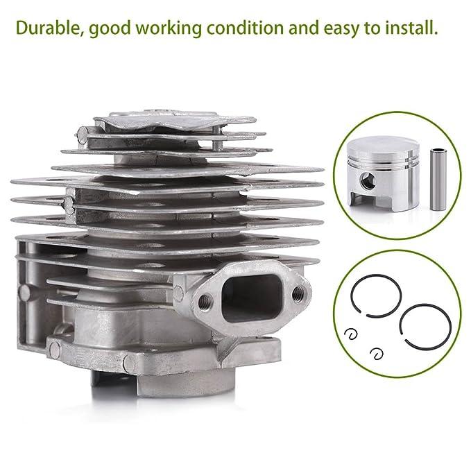 GLOGLOW Cylinder Piston Kits Rings Gasket Pin Circlip Assy mower Accessories Fit MITSUBISHI TL52 BG520 Brush Cutter