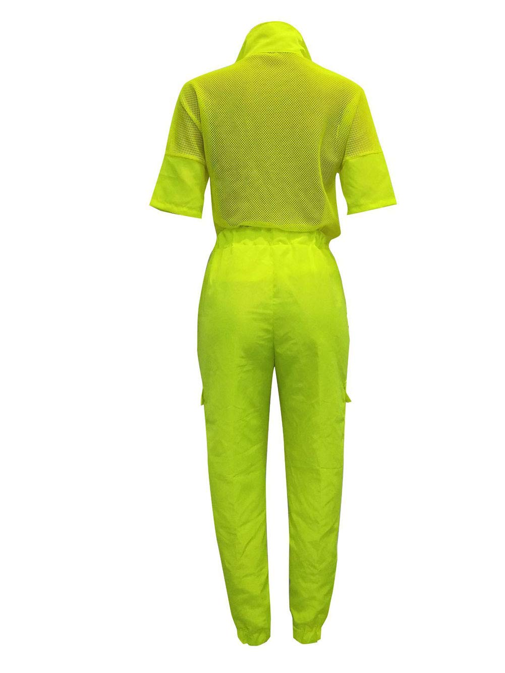 Track Suit for Women Set - Breathable Sportswear Sets 2 Piece Outfits Fluorescent Green