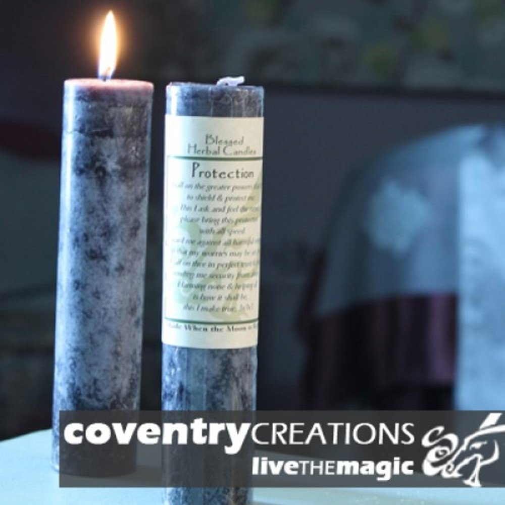 Blessed Herbal Protection Candle Coventry Creations BHC-PT