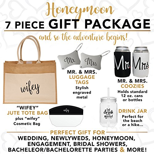 Honeymoon Gift- Unique Wedding Present or Bridal Shower Gift for Newlyweds by Wine Wraps LLC (Image #1)