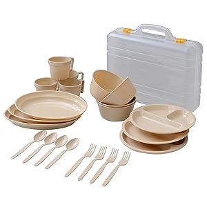 キャンパーズコレクション デイパーティー食器セット(4人用6種類) PCW-12
