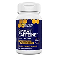 Natural Stacks Smart Caffeine Supplement 60ct - Instant Energy and Focus for Life...