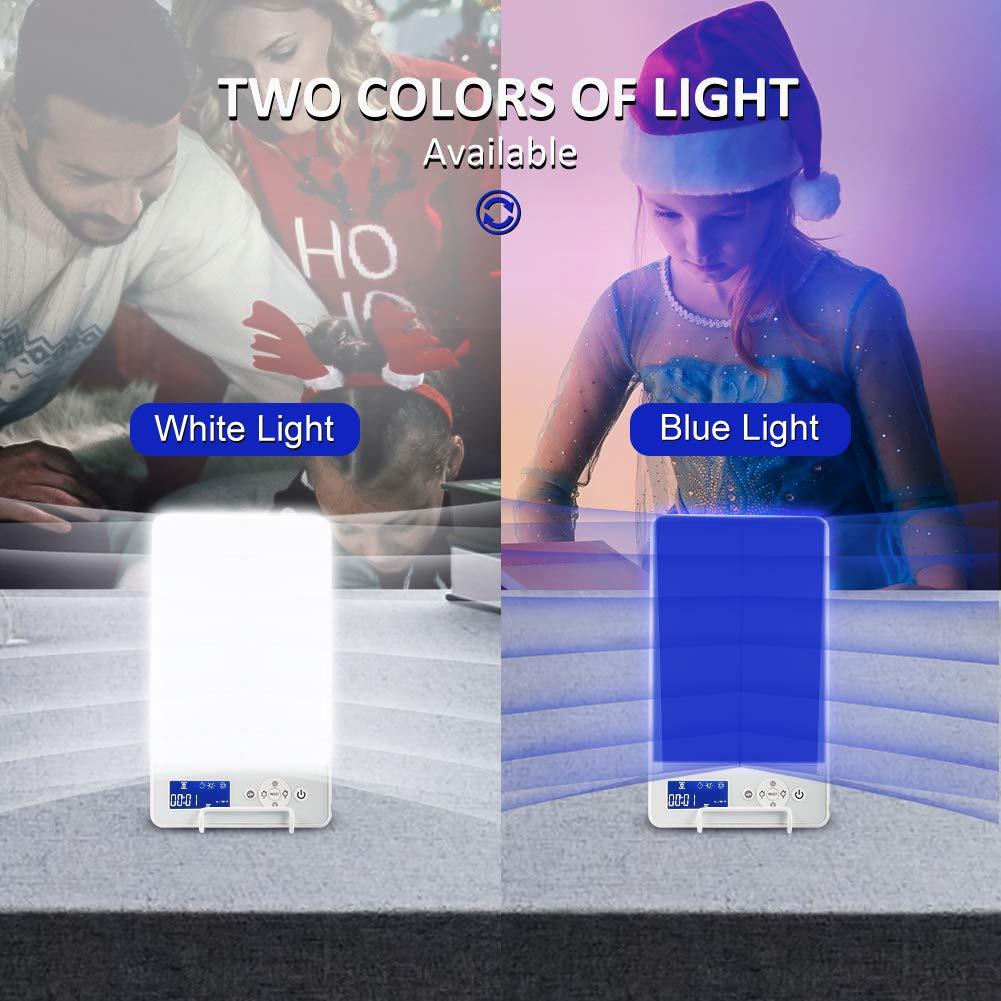 gradation en continu Lampe de luminoth/érapie 10000 lux,Chassez la d/éprime,Simulation de la lumi/ère du jour avec commande tactile Classe defficacit/é /énerg/étique A blanc Lampe SAD white