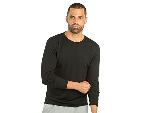 ea90b287f1d0 OLIVERS Apparel, Mens, Merino Wool Tech Mesh Terminal Long Sleeve T-Shirt (