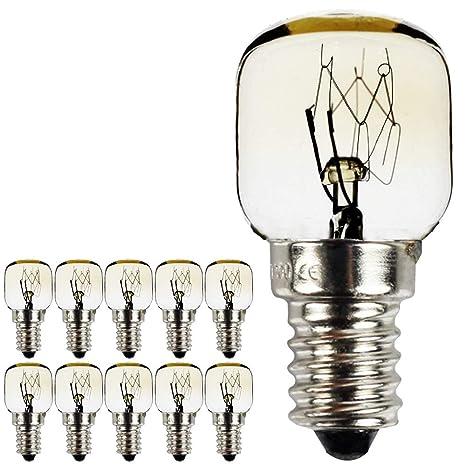 Bombillas de luz nocturna SES E14 chapadas en níquel para microondas y horno (10 unidades) 15.00W 240.00V