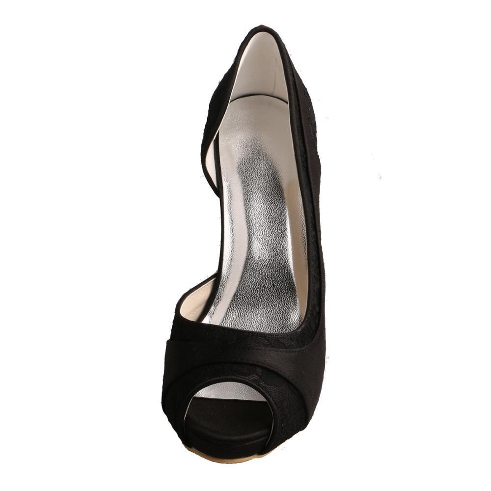 Wedopus , schwarz  Damen Peep Toes , Schwarz - schwarz , - Größe: 35.5 - 51948e