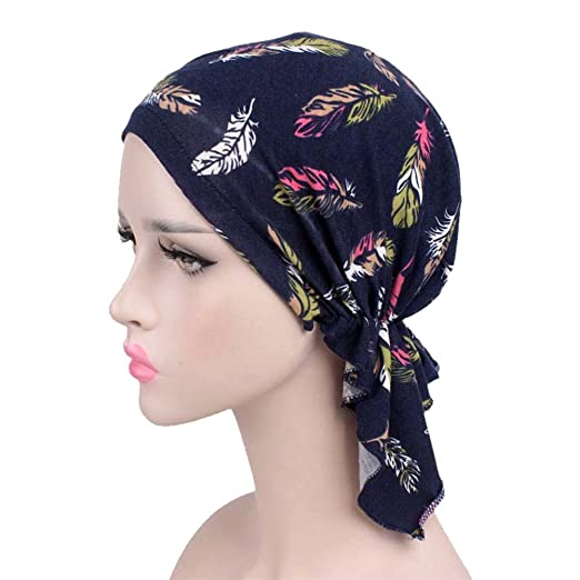 bff2058af7e Image Unavailable. Image not available for. Color  HADM Adjustable Women  Cotton Bandana Scarf Pre Tied Chemo Hat Beanie Turban Headwear for Cancer  Patients