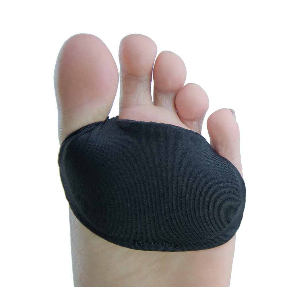 Welnove- Metatarsal Foot Mortons Neuroma Pads, Forefoot Cushion Anti-Slip Ball of Foot Cushions, Pain Relief for Men and Women (Forefoot Cushion) -2 Pieces Black M