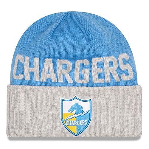 メディックブレーキかわいらしいSan Diego Chargers New Era NFL ThrowbackクラシックカバーCuffedニット帽子