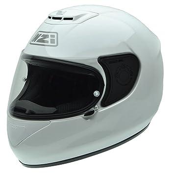 NZI 010265G049 Spyder V White Casco de Moto, Blanco, Talla 55-56 (