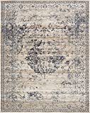 Unique Loom Chateau Collection Distressed Vintage Traditional Textured Dark Blue Area Rug (8' x 10')