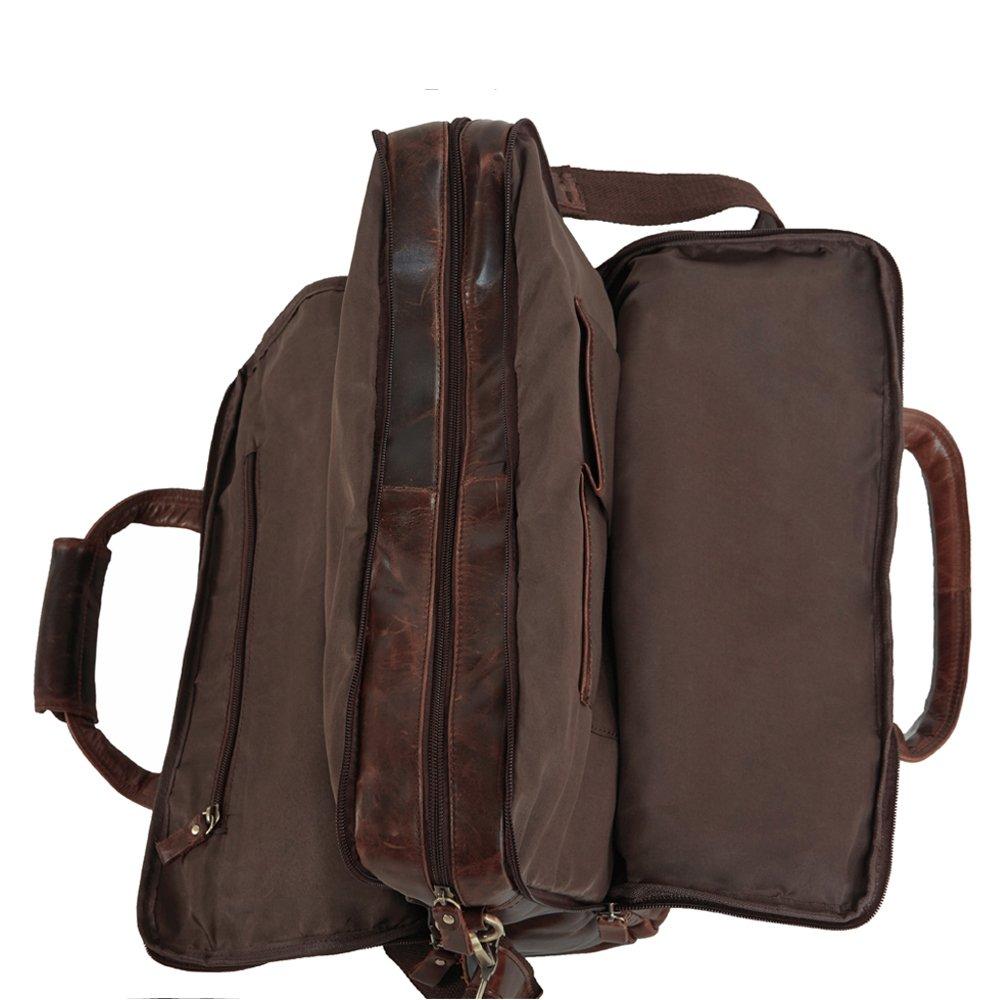 ac75aa555e AB Earth - Mallette,serviette cuir homme,sac business sac travaile ,sac  messager en cuir pour homme , Sacoche, serviette en cuir pour ordinateur  portable 16 ...
