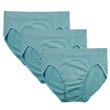 c88b1e23e3792 FEM Women s Underwear Seamless Briefs High-Cut Panties - 3 Pack or 4 Pack (