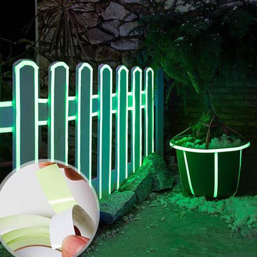 OutTop(TM) Luminous Tape 3Meter/16.4ft Waterproof Glow in The Dark Self-Adhesive Tape Safety Stage Sticker Home Decor for Wall Exit Sign Remote Control Light Switch (M, Green)