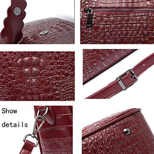 Red Bags Handbags Leather Leather Handbags Women Bags For Handbags Shoulder Women wv1I6rvq