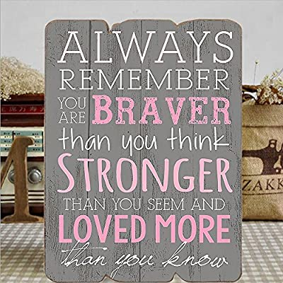 """MODE HOME 11.81""""X15.75"""" Decorative Wooden Wall Signs Vintage Wooden Wall Plaque Signs with Quotes Sayings"""