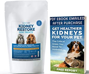 Kidney Restore Dog Treats 16oz for Petite Dogs. Low Protein Dog Treats for Kidney Support for Small Dogs. Renal Treats for Any Kidney Dog Diet.