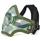 AVOLUTION Tactical Steel Mesh Protective Mask for Paintball War Game Random Color