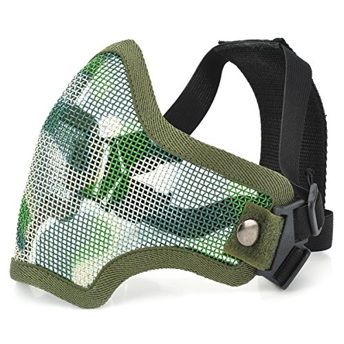 AVOLUTION Tactical Steel Mesh Protective Mask for Paintball War Game Random Color by AVOLUTION