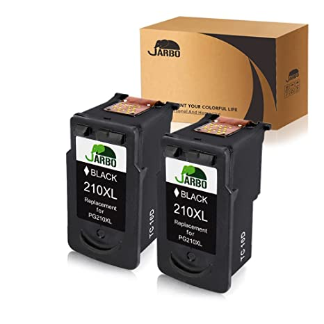 JARBO Remanufactured For Canon PG 210 Ink Cartridges High Yield 2 Black Used
