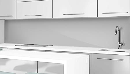 Silver Grey Coloured Acrylic Splashback   Scratch Resistant High Gloss Glass  Effect   All Sizes Up