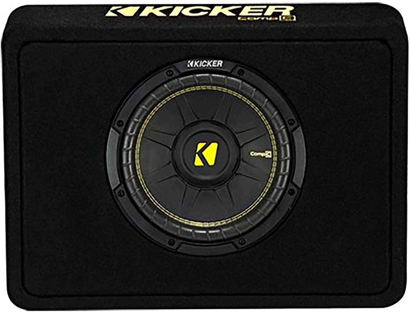 Kicker 10 600 Watt 4 Ohm Vented Thin Profile Subwoofer Enclosure 44TCWC104