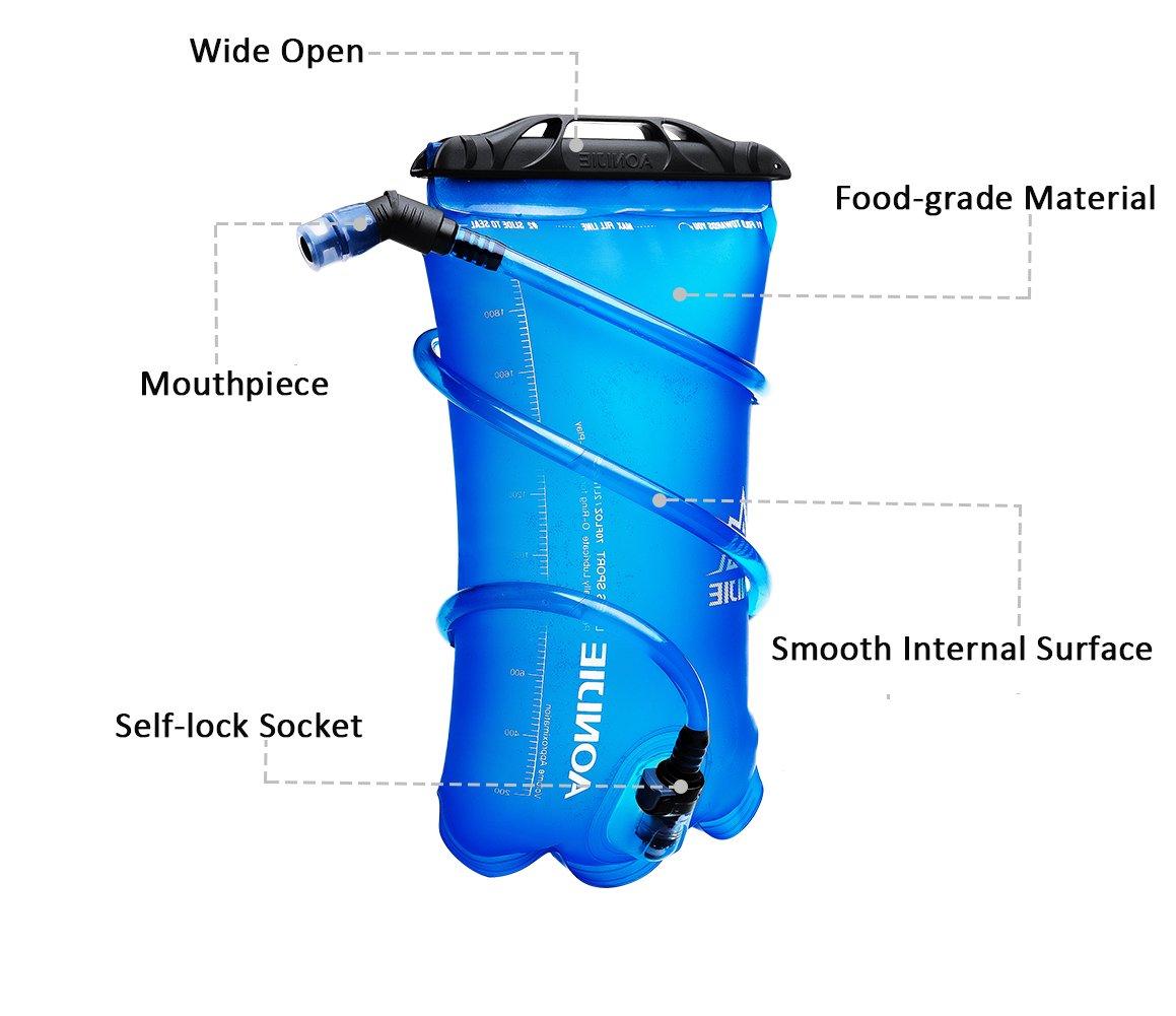 DEKINMAX Bolsa de Agua Port/átil para Mochila de Senderismo Campamento Ciclismo